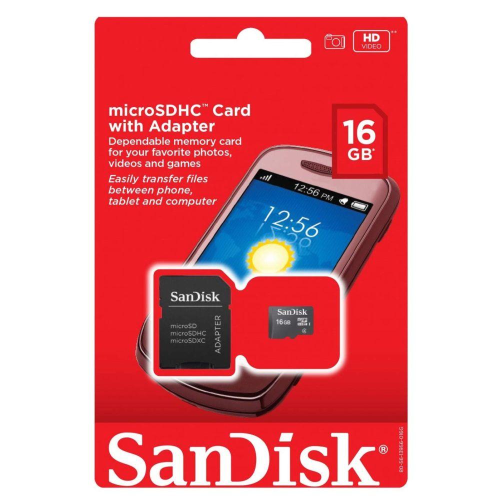 Cartão de Memória 16gb Micro Sd Adapter - Sandisk