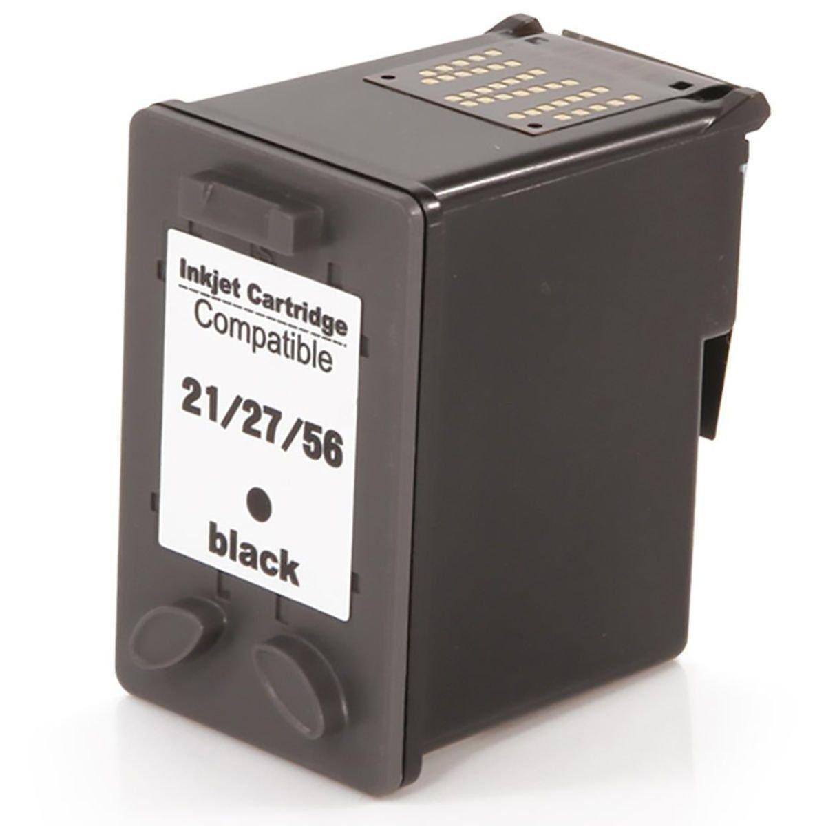 Cartucho de Tinta Compatível HP 21/27/56 (9351/8727/6656) Preto 10ml