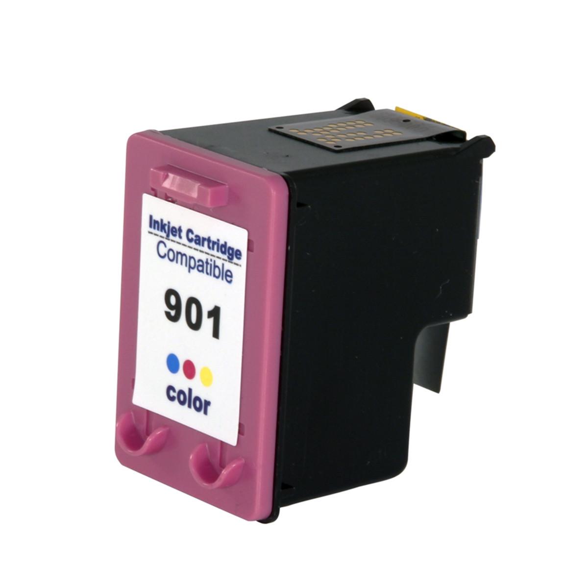 Cartucho de Tinta Compativel HP 901xl (CC656) Colorido 20ml