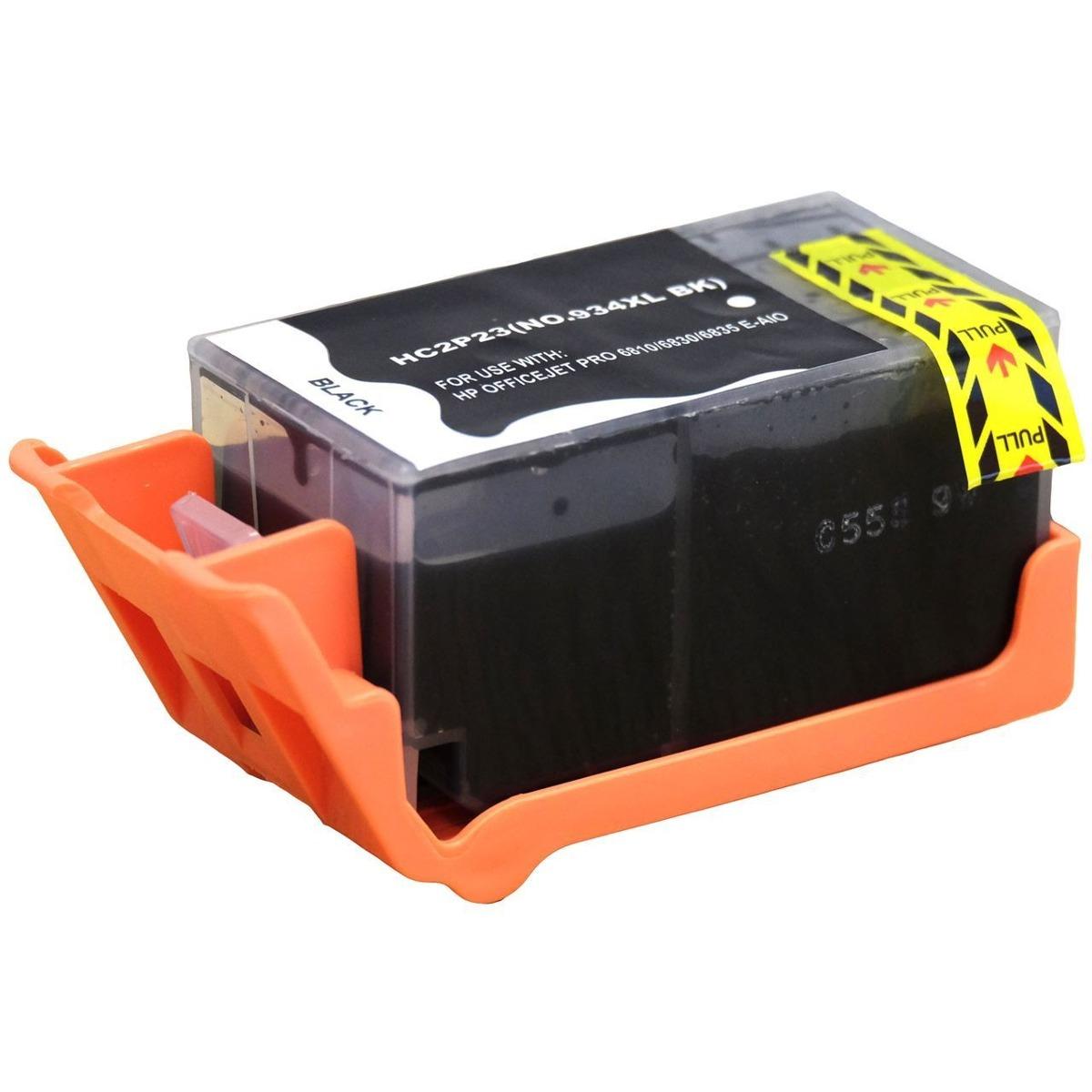 Cartucho de Tinta Compatível HP 934xl (C2P23) Preto 58ml