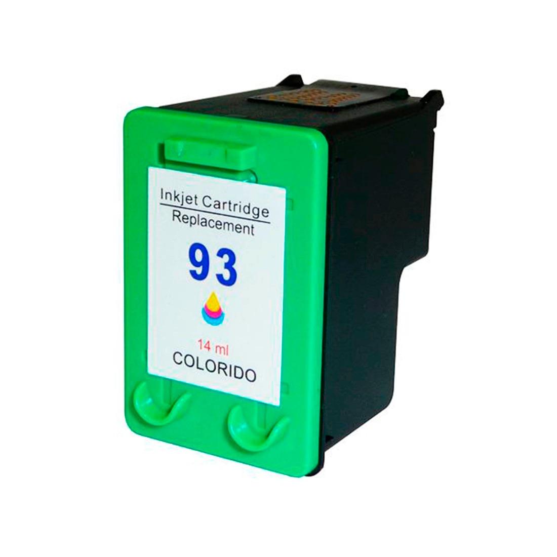 Cartucho de Tinta Compatível HP 93 (9361) Colorido 14-18ml