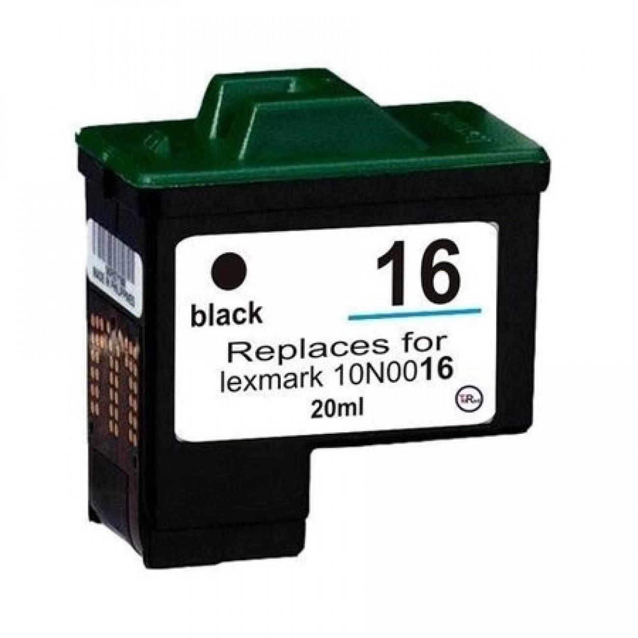 Cartucho de Tinta Compatível Lexmark 16 ( 10N0016 ) Preto 15ml