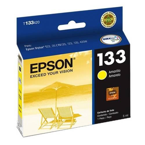 Cartucho de Tinta Epson 133 (T1334) Amarelo 5ml