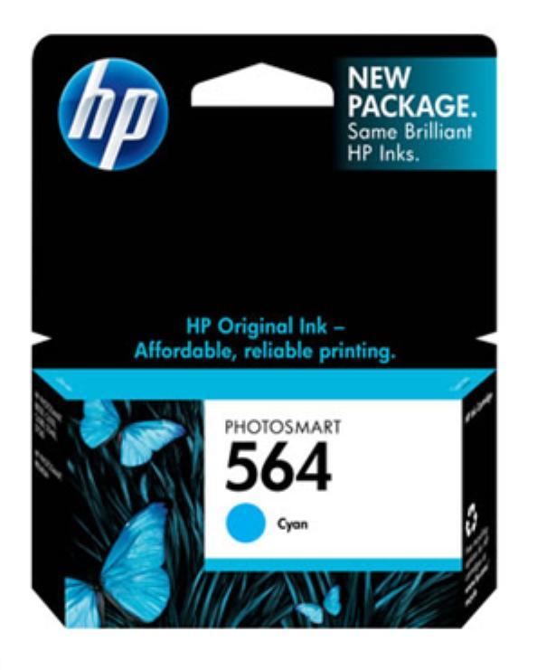 Cartucho de Tinta HP 564 ( CB318 ) Ciano 3 ml