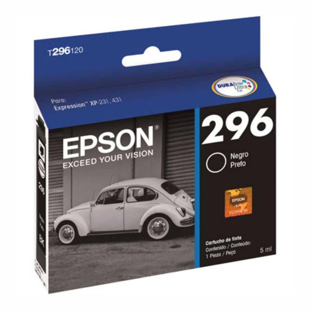 Cartucho de Tinta Original Epson 296 (T2961) Preto 5ml