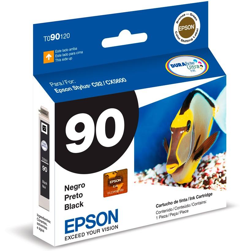 Cartucho de Tinta Original Epson 90 (To90) Preto 5ml