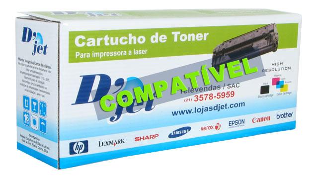 Cartucho de Toner Compatível Brother Tn-210 Bk Preto