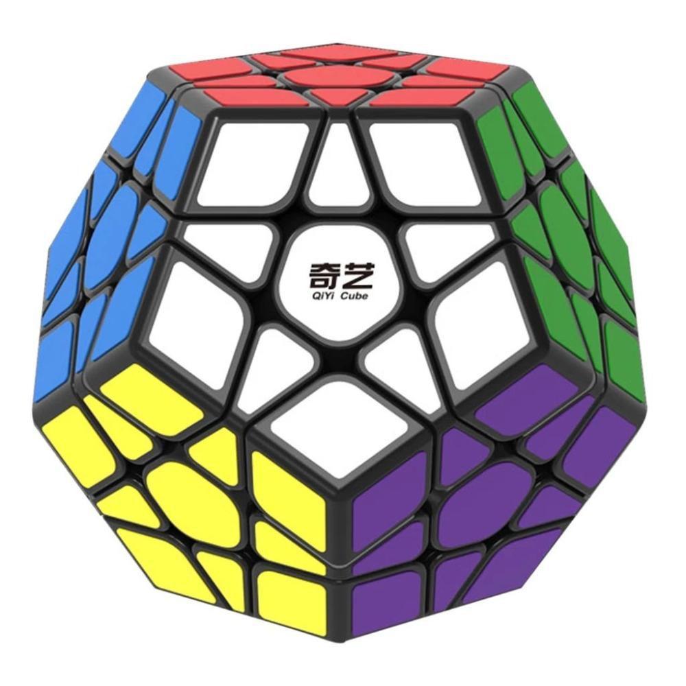 Cubo Mágico Megaminx Qiyi QiHeng Preto