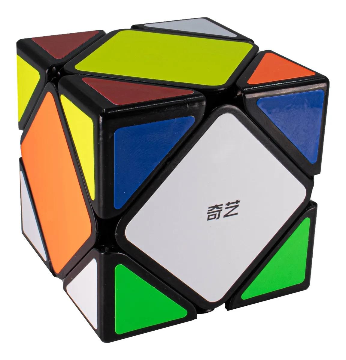Cubo Mágico Profissional Skewb Qiyi QiCheng Preto - Qiyi-Mfg