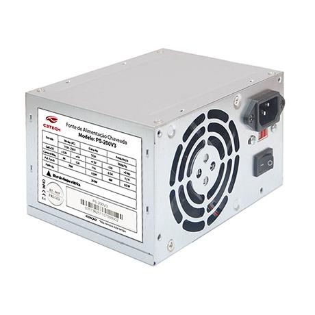 Fonte ATX 200W Ps-200v3 Sem Cabo - C3 Tech