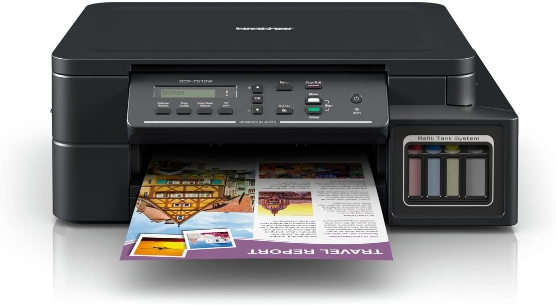 Impressora Multifuncional Ecotank Dcp-T510w Preto - Brother