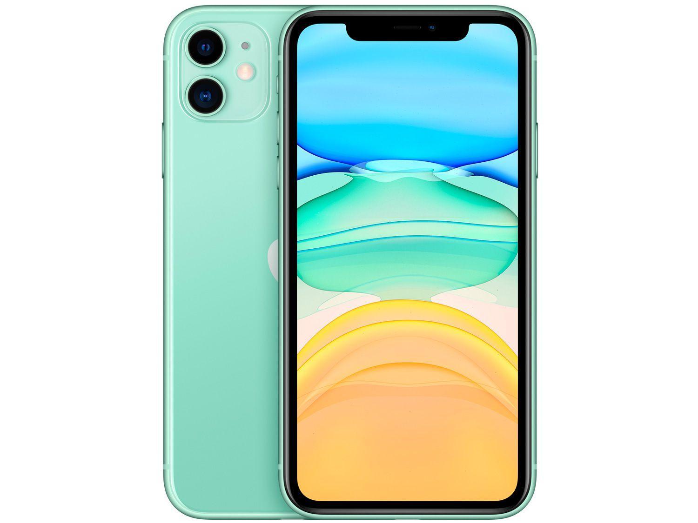 IPhone 11, 64GB Verde com Tela de 6,1?  E Câmera De 12MP / IOS - Apple