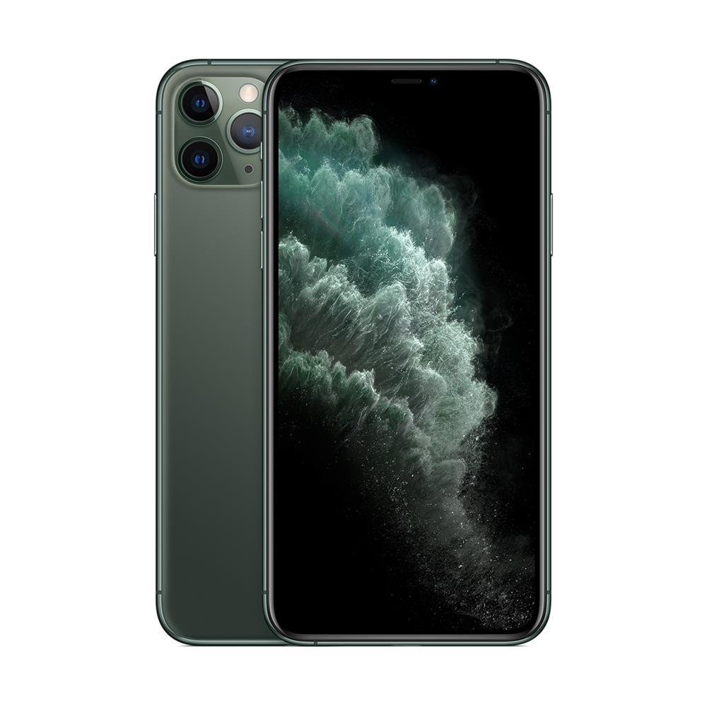 "iPhone 11 Pro Max Apple 256GB Tela 6,5"" iOS 13 Tripla Câmera Traseira Resist à Água Verde-Meia-Noite"