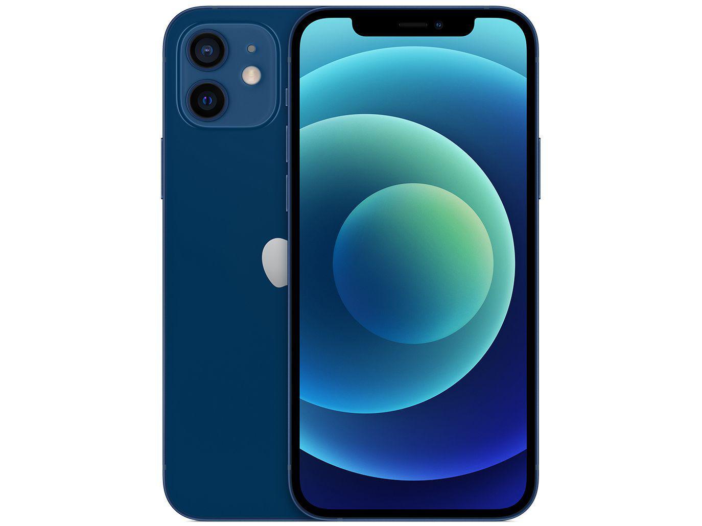 iPhone 12, 64GB Azul 6,1? Câm. Dupla 12MP iOS - Apple