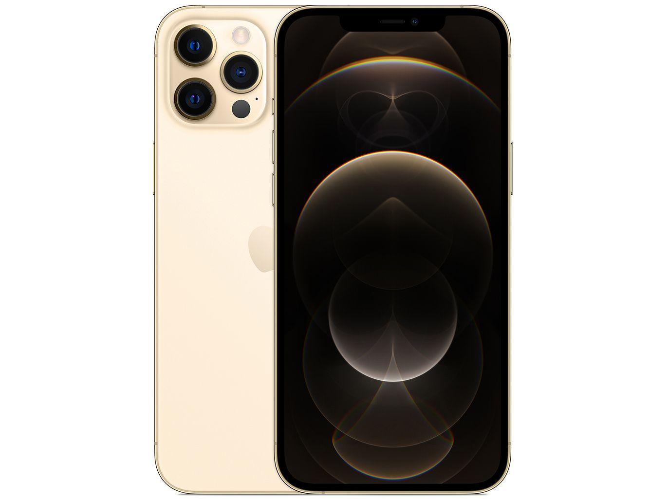 iPhone 12 Pro Max Dourado, com Tela de 6,7