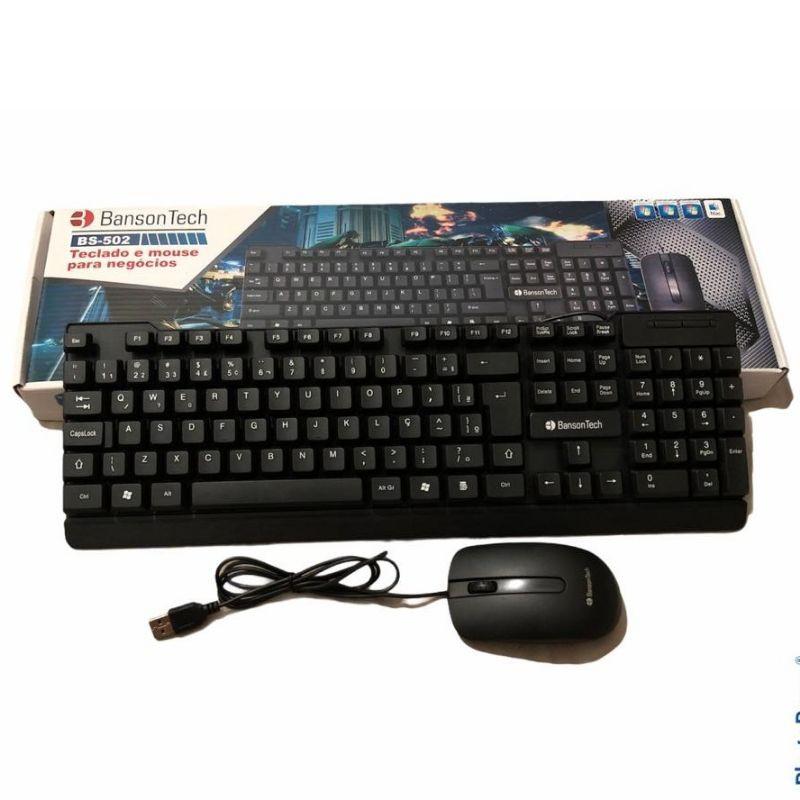 Kit Teclado Mouse Com Fio Bs 502 - Banson Tech