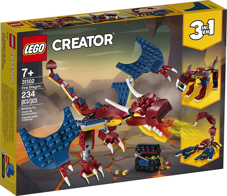 Lego Creator Dragão do Fogo 3 em 1 #31102