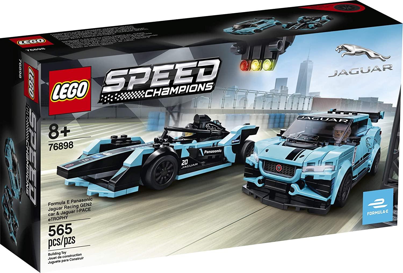 Lego Speed Champions - Formula E Panasonic Jaguar Racing GEN2 car & Jaguar I-PACE eTROPHY #76898