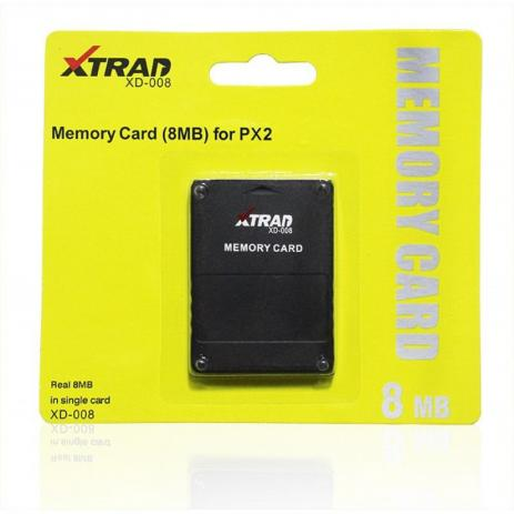 Memory Card 8MB Compatível PS2 XD-008 - Xtrad