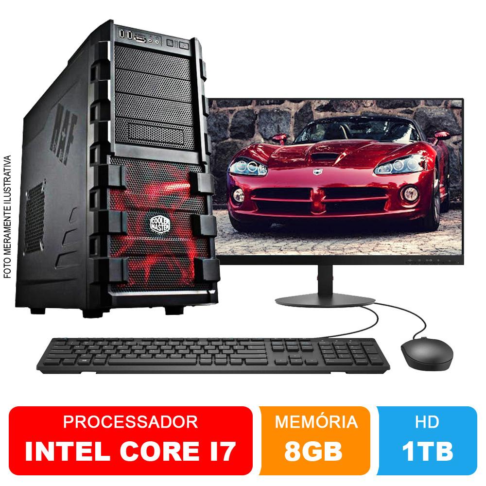 Microcomputador Completo Intel Core i7 3.9Ghz 8gb Ram HD 1TB Monitor 18,5 Polegadas Teclado e Mouse