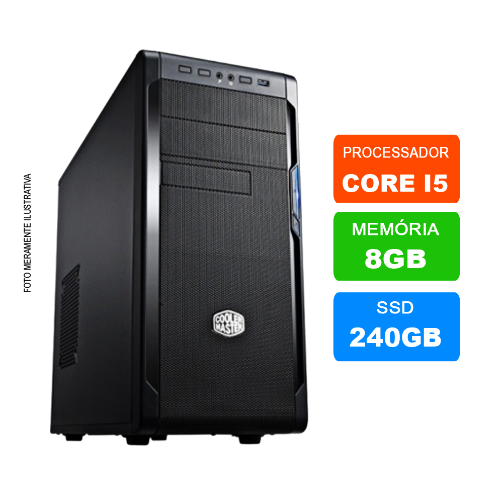 Microcomputador Intel Core i5 3.0Ghz 8gb Ram HD 240GB SSD