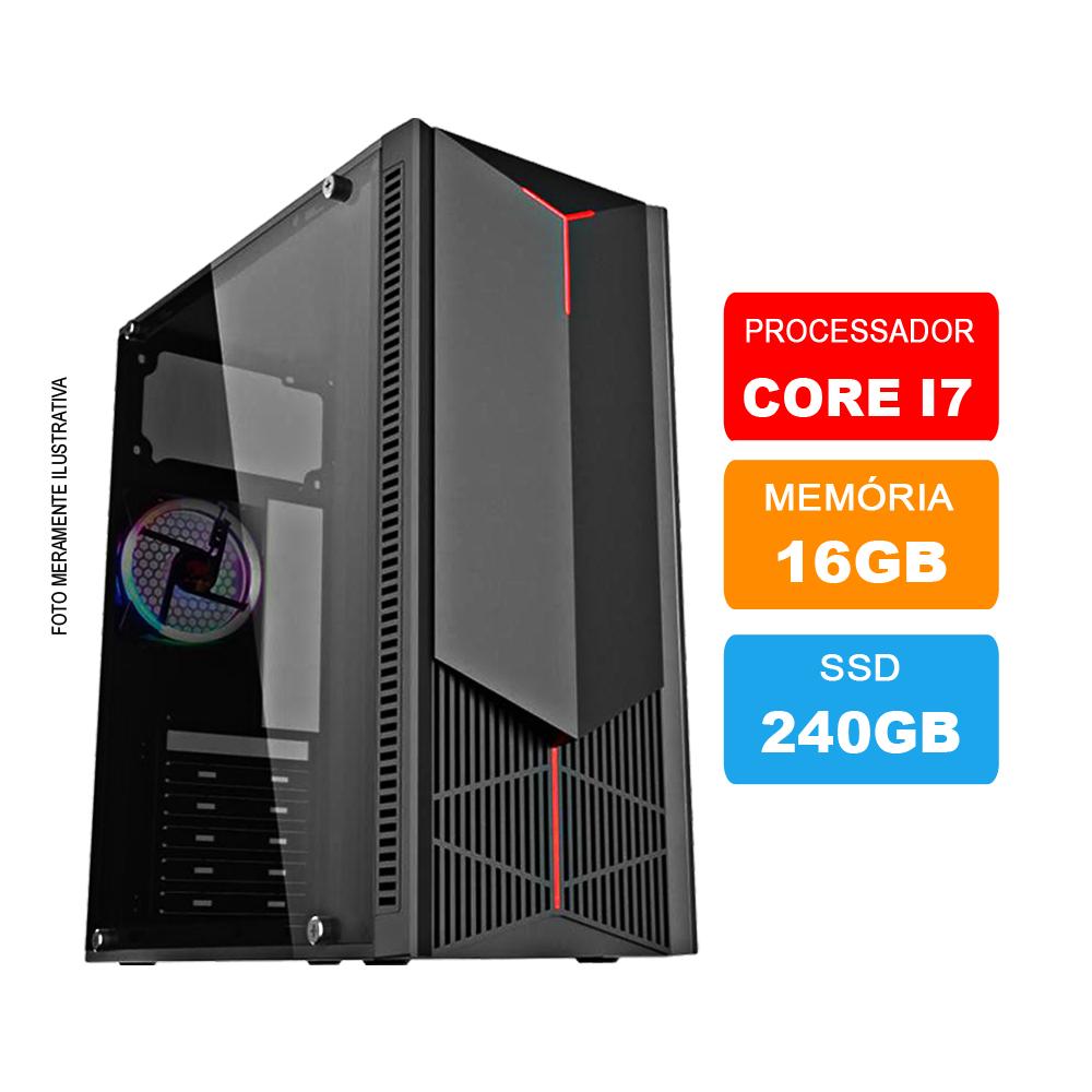 Microcomputador Intel Core i7 3.9Ghz 16gb Ram HD 240GB SSD