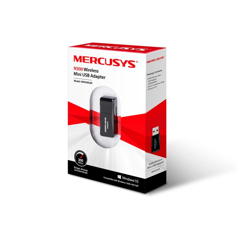 Mini Adaptador Mercusys Usb Wireless N300 Mw300um