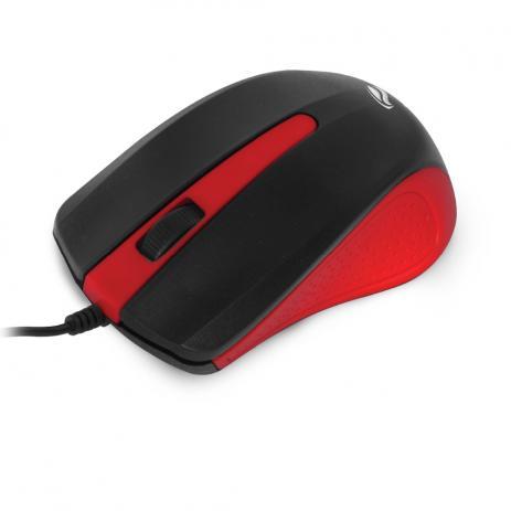 Mouse Mine Óptico USB MS-20RD  Preto / Vermelho- C3 Tech