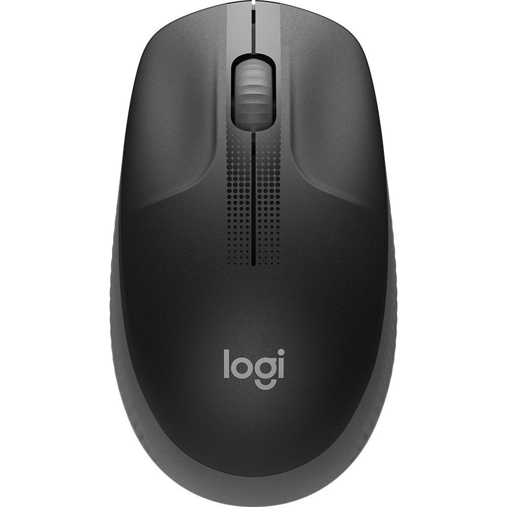 Mouse S/Fio M190 (910-005902) com Design Ambidestro de Tamanho Padrão e Pilha Incluída Carvão - Logitech