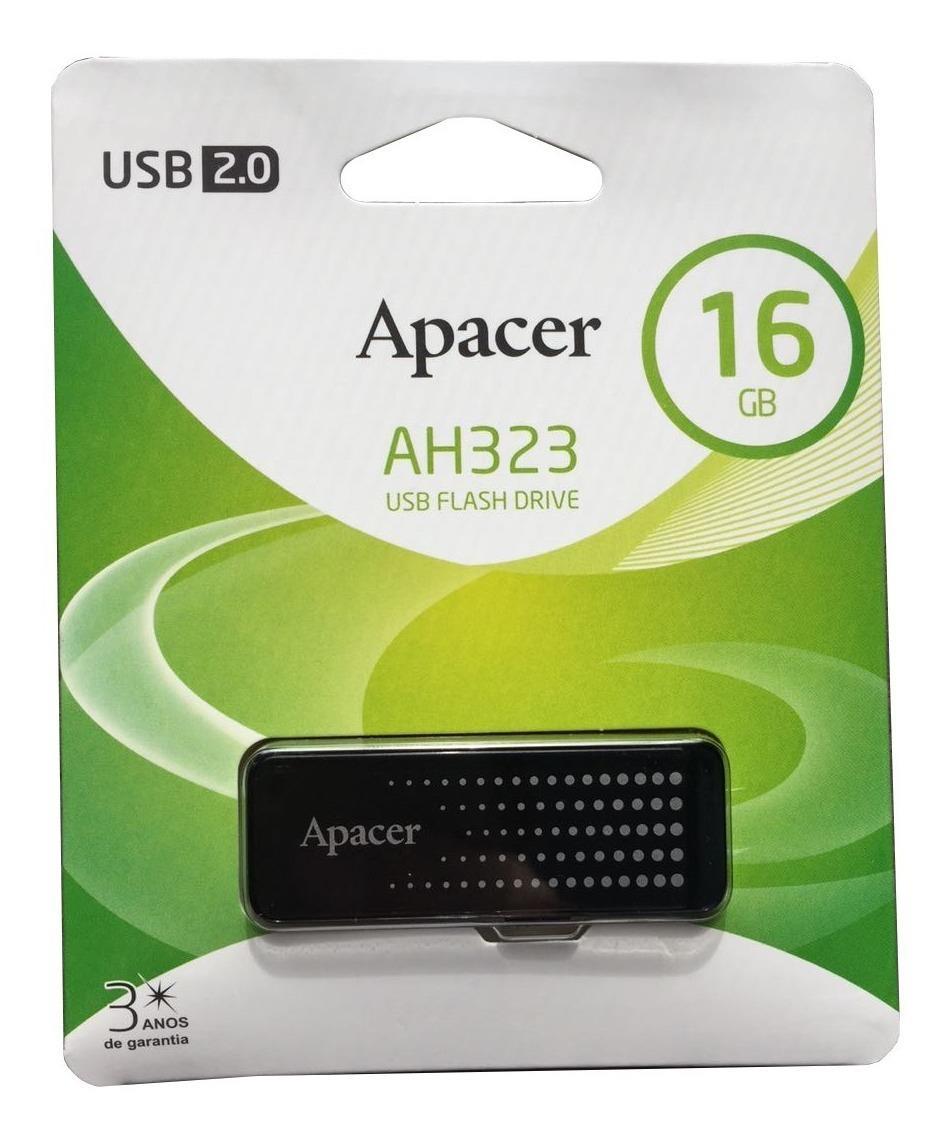 Pen drive Apacer AH323, 16GB, USB 2.0 - AP16GAH323B-1
