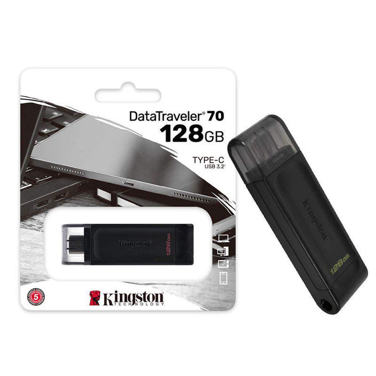 Pen Drive USB 3.2 DT70-128GB Datatraveler 70 128GB USB-C 3.2 GEN 1 - Kingston