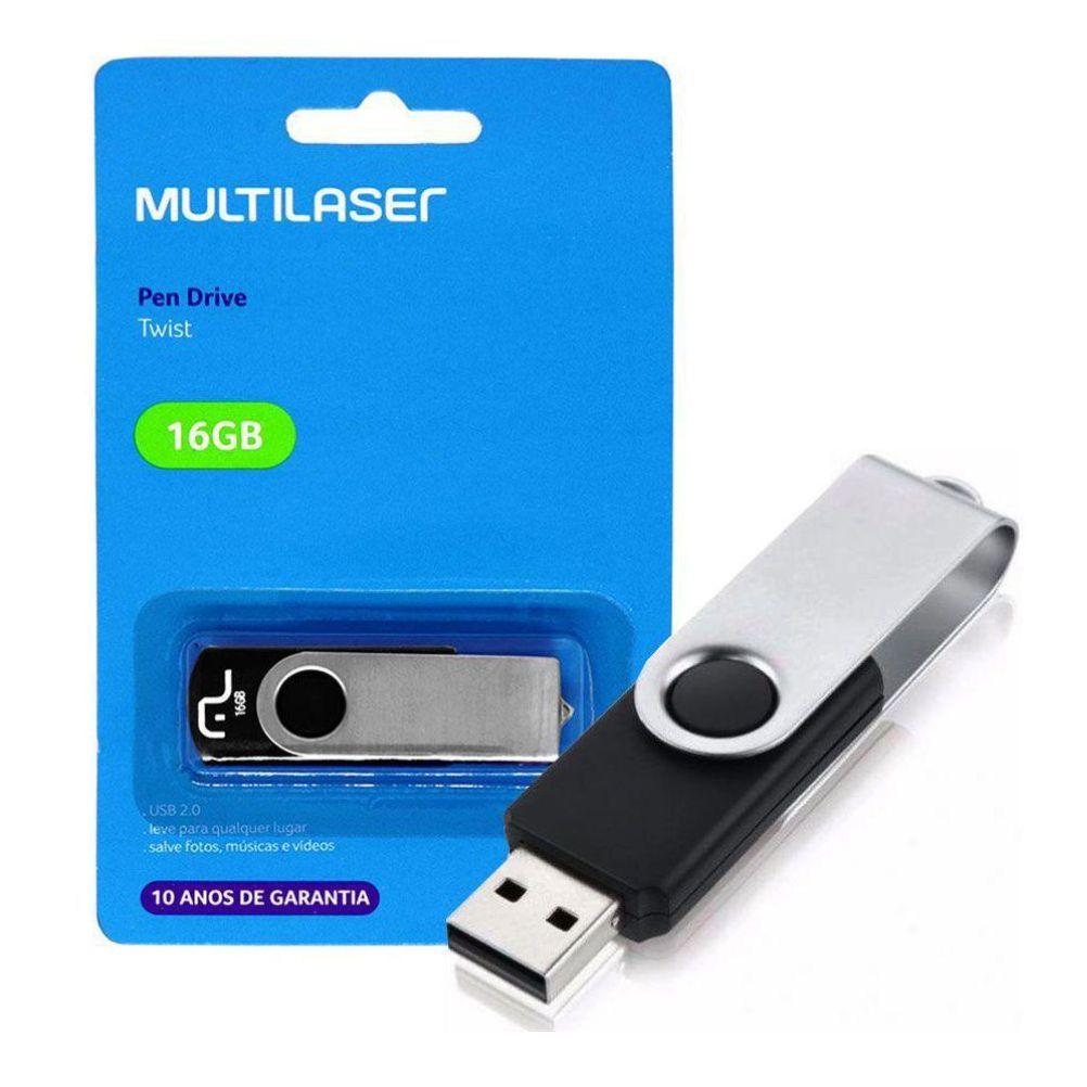 Pen Driver 16gb Twist Pd588 Usb - Multilaser