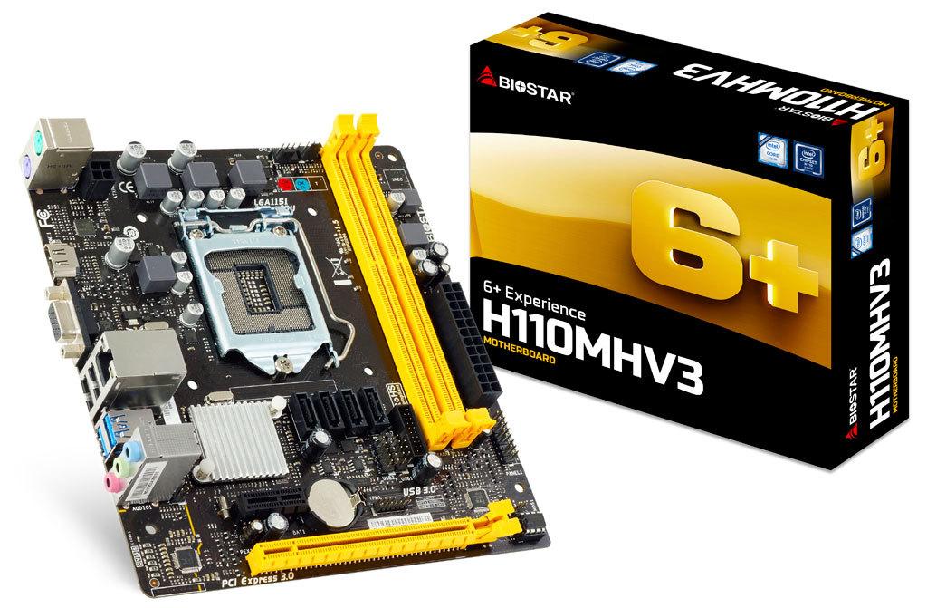 Placa Mãe 1151 H110MHV3 DDR3 Intel - Biostar