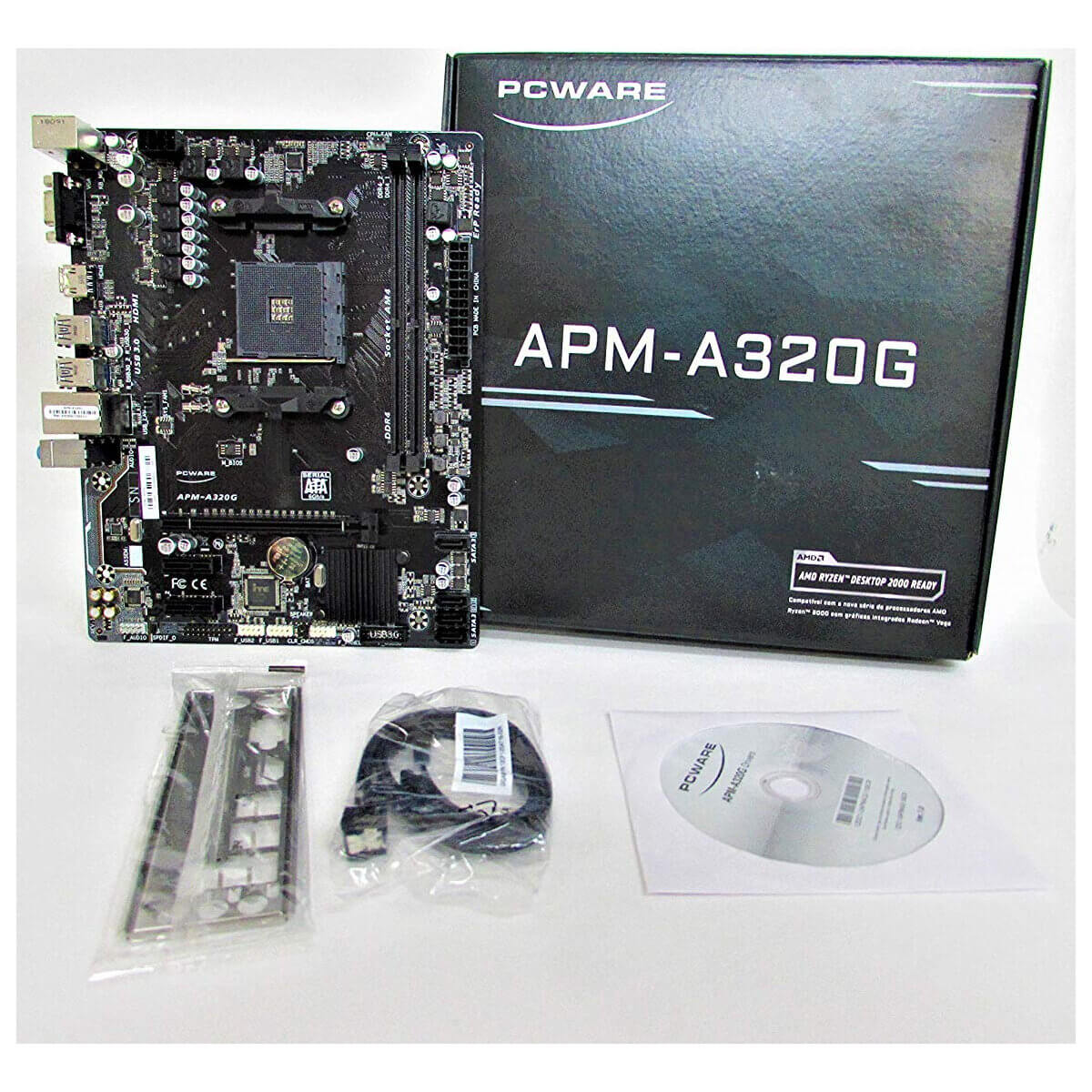 Placa-mãe Pcware Apm-a320g Am4 Ddr4