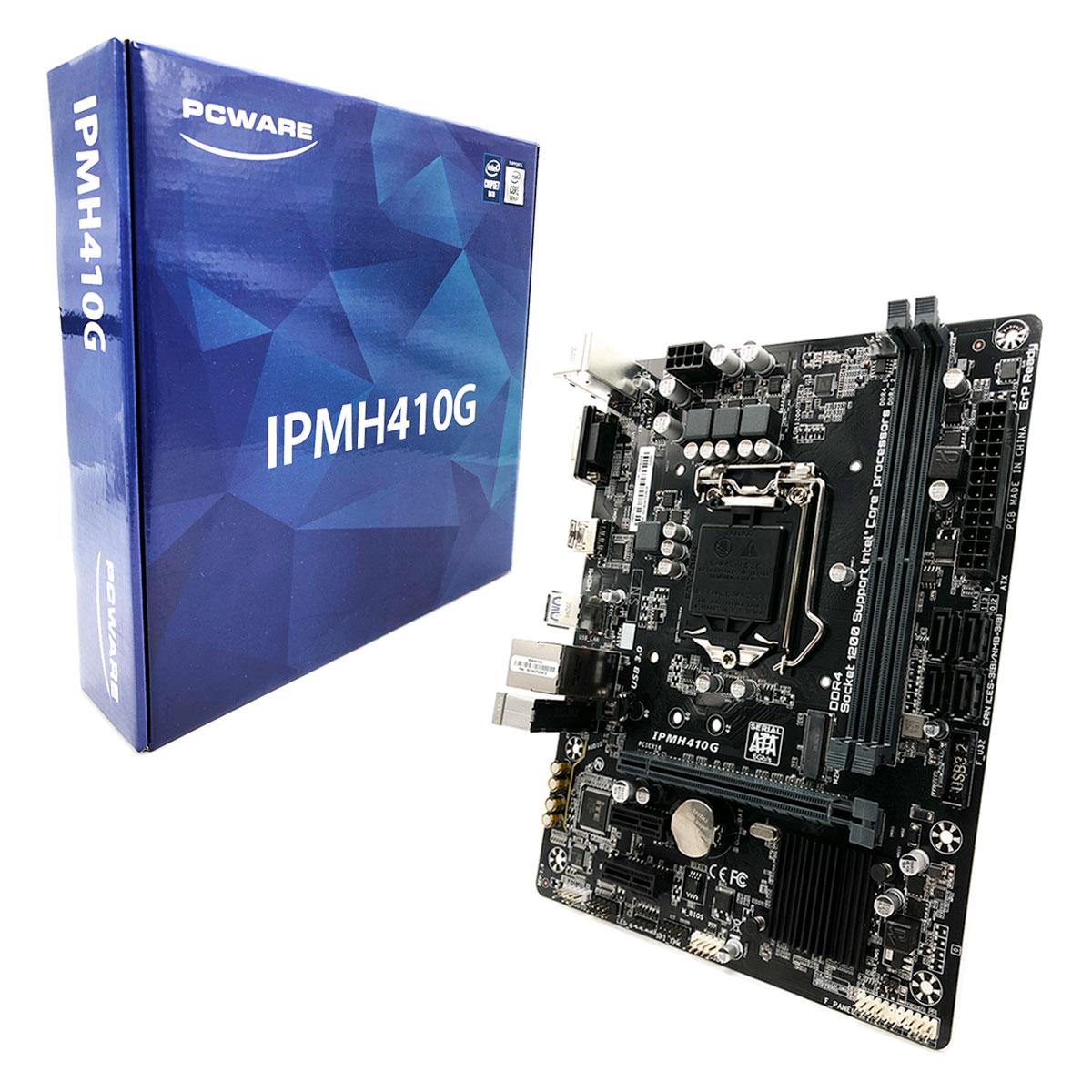 Placa Mãe Pcware Ipmh410e Intel 10º Geração Lga 1200 Ddr4