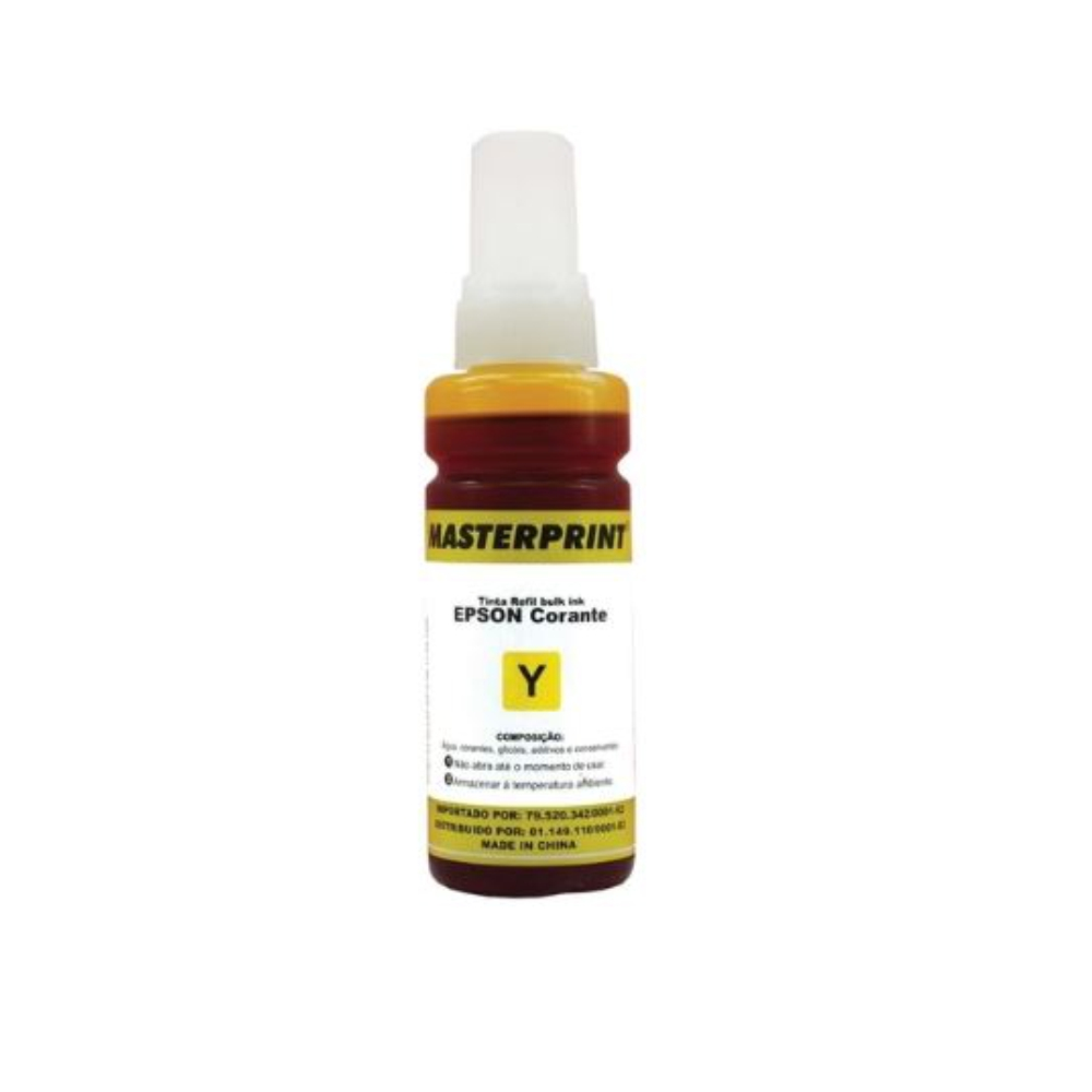 Refil de Tinta Compatível Epson 664 Yellow 100ml - InkTec