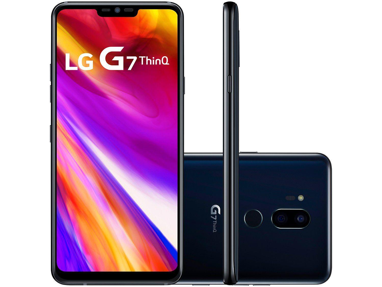 Smartphone G7 ThinQ 64GB Preto 4G Octa Core - 4GB RAM Tela 6,1? Câm. Dupla + Câm. Selfie 8MP - LG