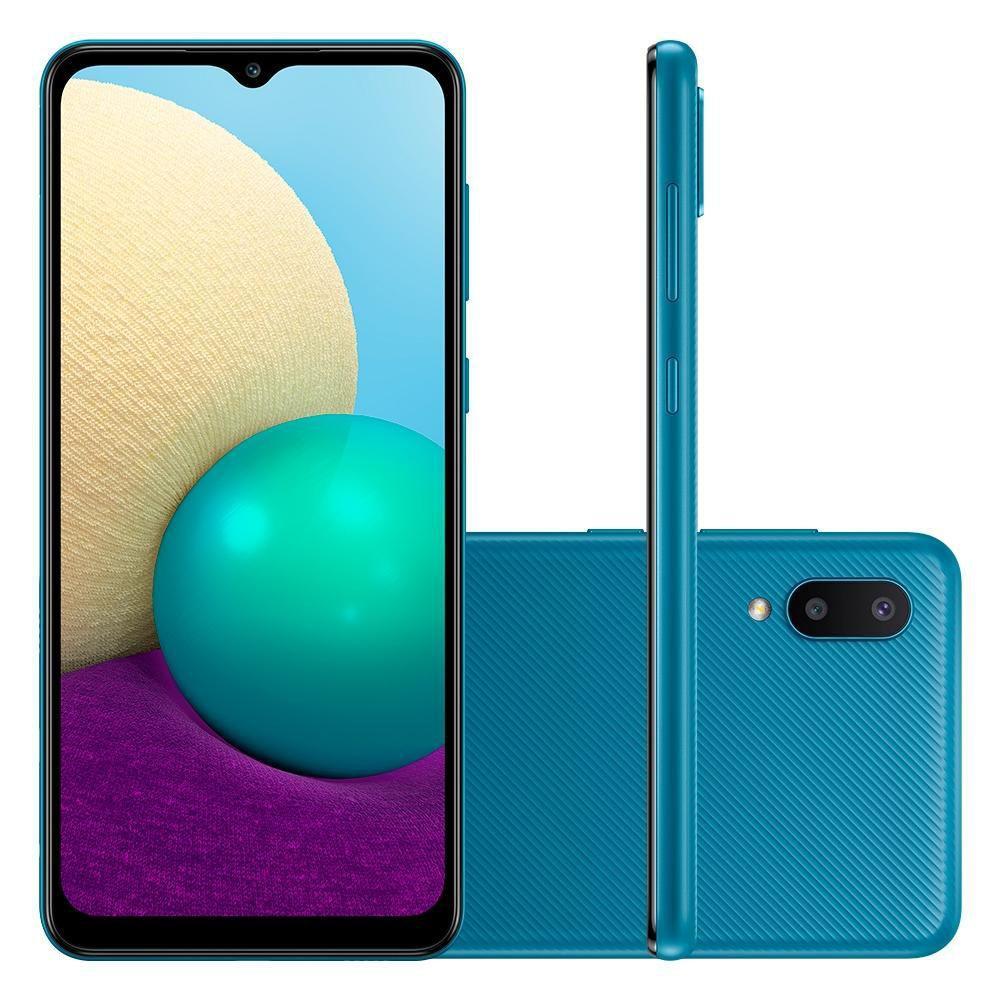 Smartphone Galaxy A02 Câmera Dupla Traseira 13MP Tela Infinita 6,5