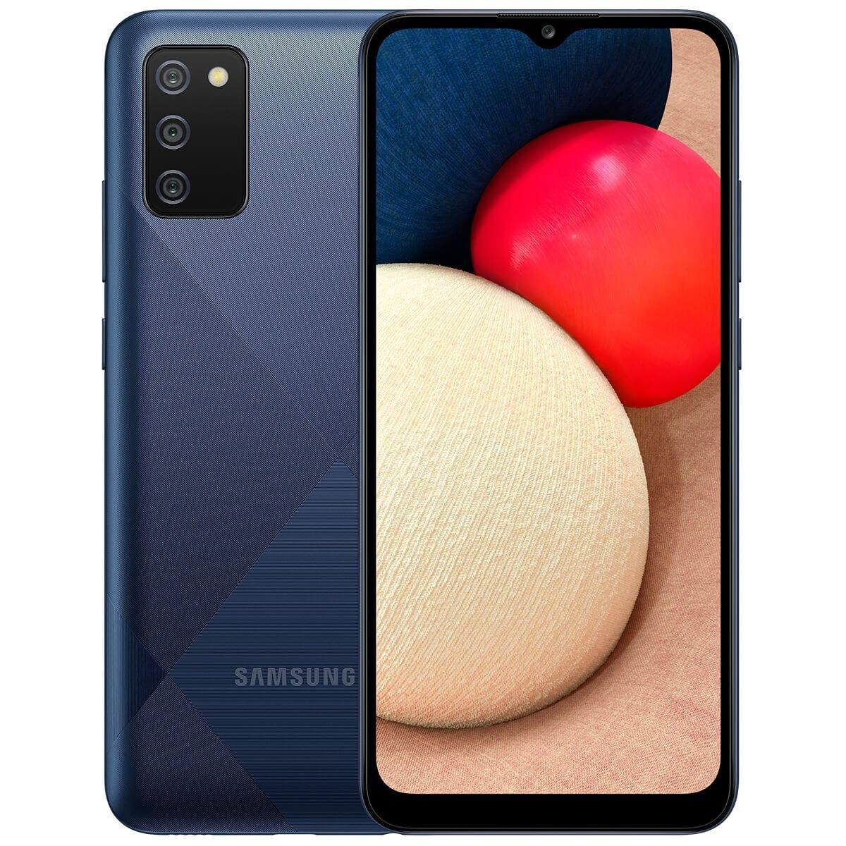 Smartphone Galaxy A02s Azul, 3GB RAM com Tela Infinita de 6,5