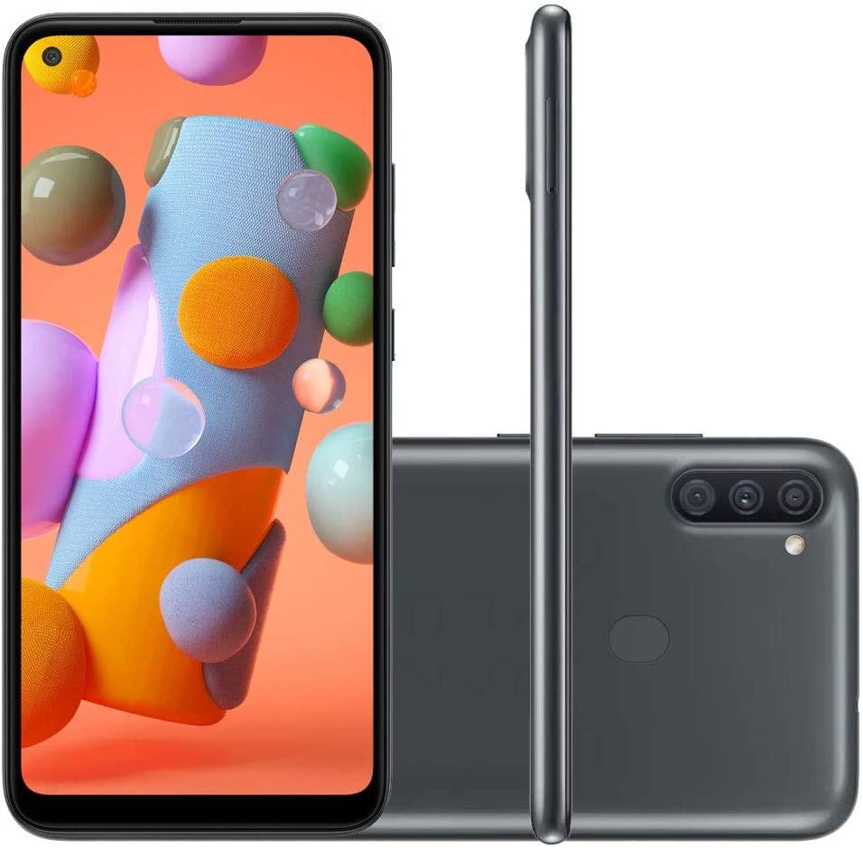 Smartphone Galaxy A11, 64GB, 3GB RAM OCTA CORE, Tela 6.4´, Preto 13MP Selfie- Samsung