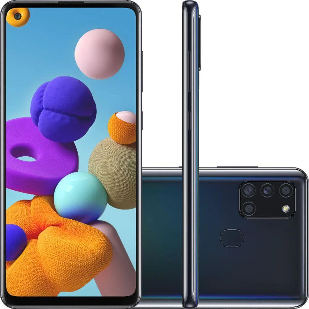 Smartphone Galaxy A21s, Octacore, 64GB,GB RAM, Tela 6,5