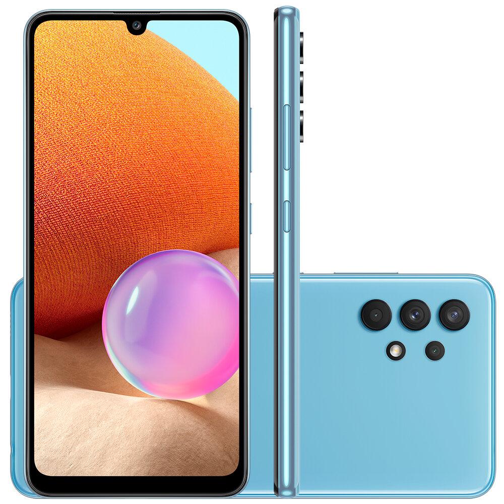 Smartphone Galaxy A32, 128GB, 4GB, Ram, Tela 6,4?, Câm. Quádrupla + Selfie 20MP, Azul ? Samsung
