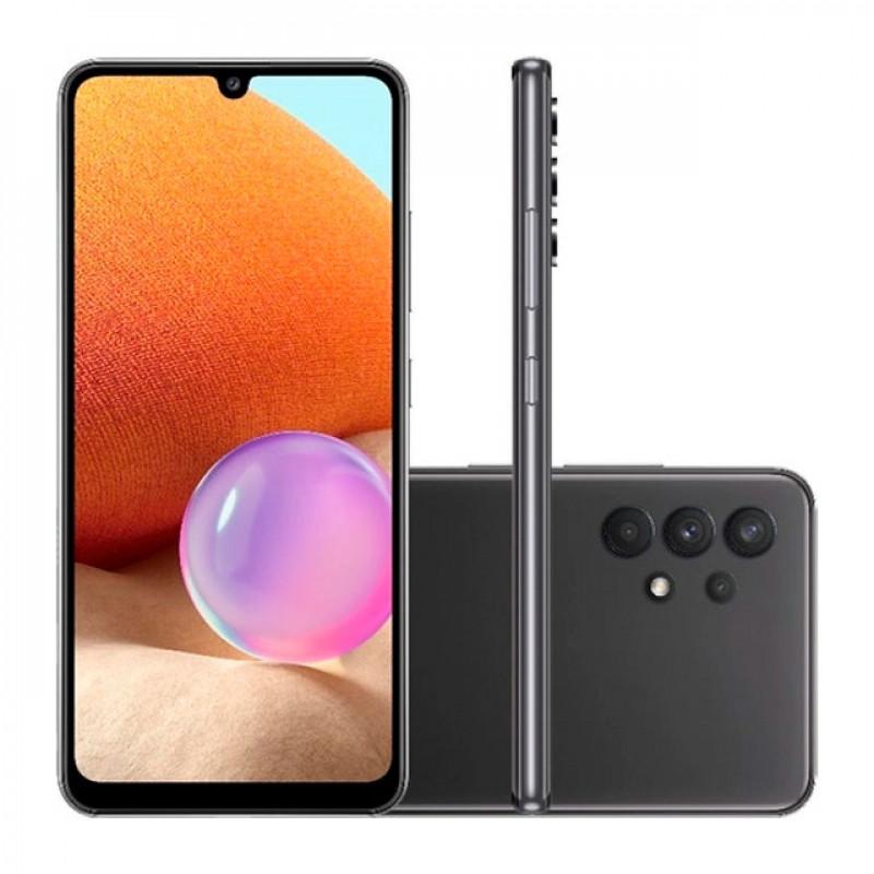 Smartphone Galaxy A32, 128GB, 4GB, Ram, Tela 6,4?, Câm. Quádrupla + Selfie 20MP, Preto ? Samsung