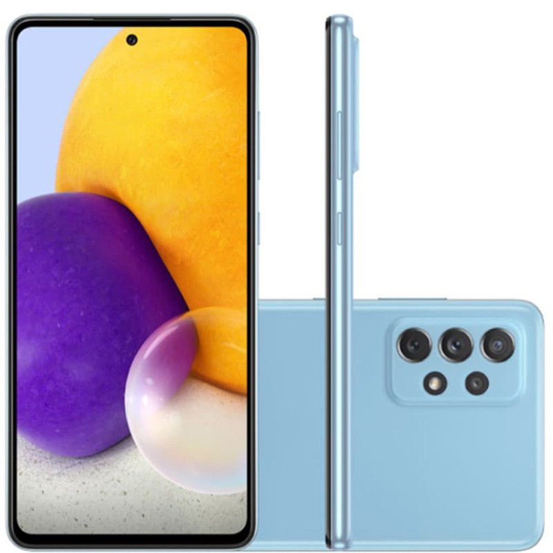 Smartphone Galaxy A72, Câmera Quádrupla de 64MP+12MP 8MP 5MP, Tela de 6,7?, 6GB RAM  Octa Core, Azul - Samsung