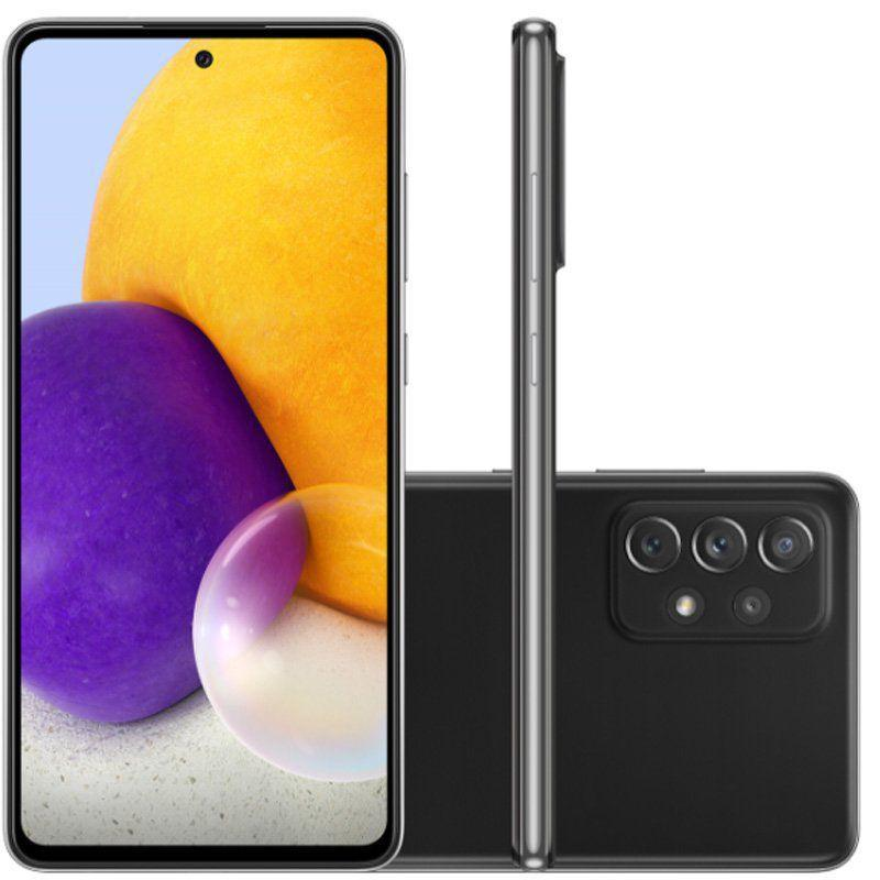 Smartphone Galaxy A72, Câmera Quádrupla de 64MP+12MP 8MP 5MP, Tela de 6,7?, 6GB RAM  Octa Core, Preto - Samsung