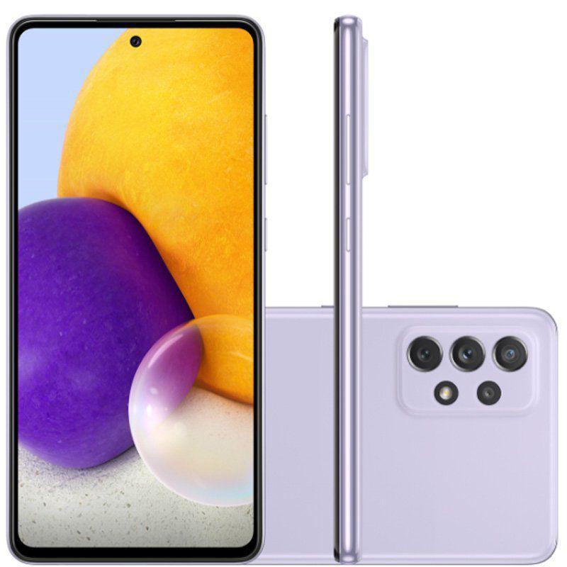 Smartphone Galaxy A72, Câmera Quádrupla de 64MP+12MP 8MP 5MP, Tela de 6,7?, 6GB RAM  Octa Core, Violeta - Samsung