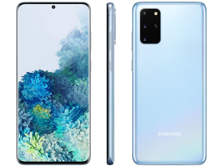 Smartphone Galaxy S20+, 128 GB, 8GB RAM, Tela de 6,7