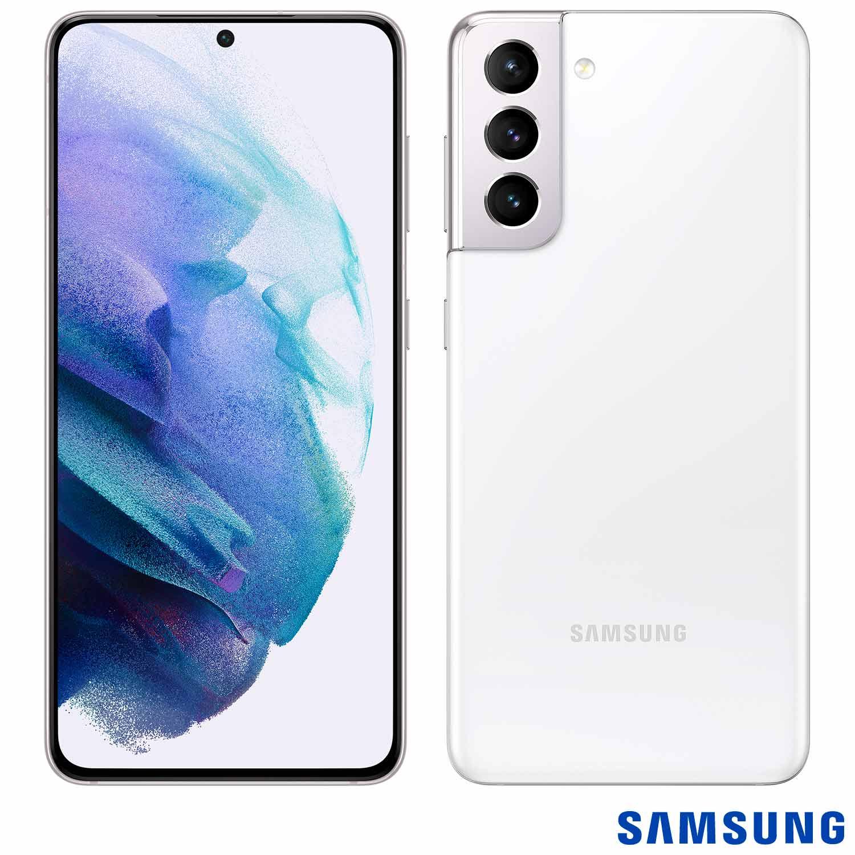 Smartphone Galaxy S21 Branco, com Tela Infinita de 6,2?, 5G, 128GB, Câmera Tripla de 12MP+64MP+12MP - SM-G991BZWJZTO - SGSMG991ZWBCO - Samsung