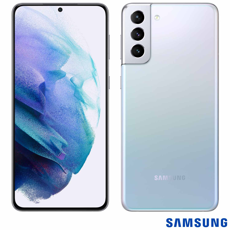 Smartphone Galaxy S21+ Prata, com Tela Infinita de 6,7