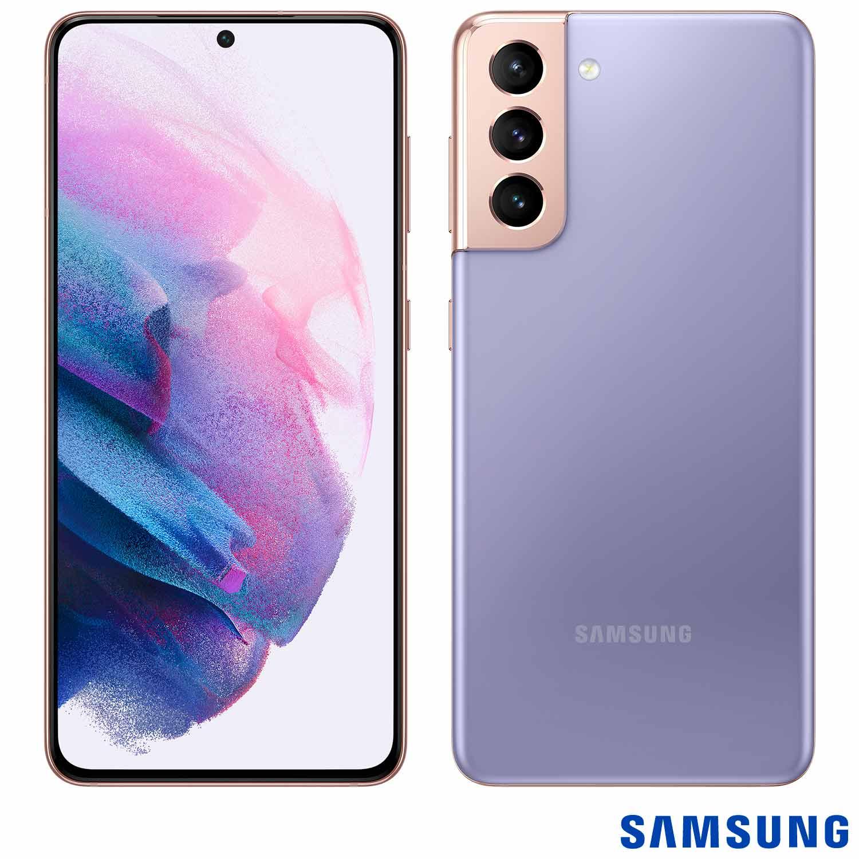 Smartphone Galaxy S21 Violeta com Tela Infinita de 6,2?, 5G, 128GB, Câmera Tripla de 12MP+64MP+12MP - SM-G991BZWJZTO - SGSMG991ZWBCO - Samsung